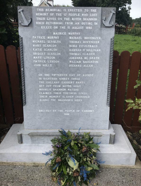 Monument to Tarbert Drowning Tragedy 15th December 1893 Memorial Plaza Tarbert    Robert Brown