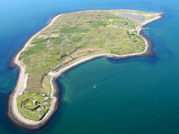 Scattery Island  showing Battery in bottom left corner | Unknown